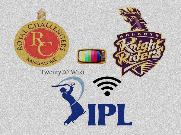 RCB vs KKR IPL live streaming