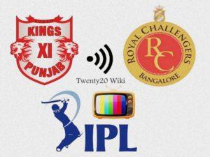 RCB vs KXIP IPL match live streaming