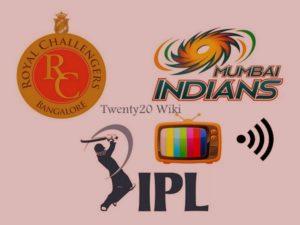 RCB vs MI IPL match live streaming and telecast.