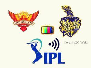SRH vs KKR live streaming IPL