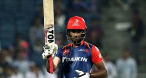 Sanju Samson smashed his first IPL century