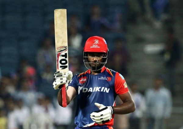 Sanju Sampson scored his maiden IPL hundred against Rising Pune Supergiant