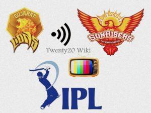 Sunrisers Hyderabad vs Gujarat Lions Live Streaming