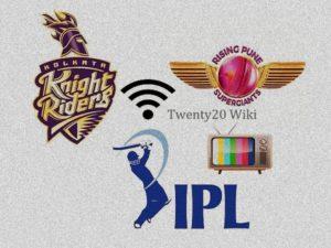 KKR vs RPS live streaming IPL