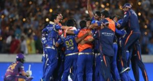 Mumbai Indians become first team to win three IPL trophies