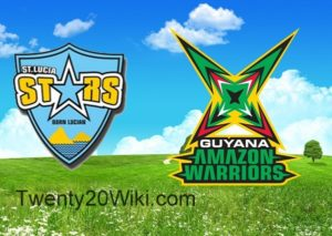 St. Lucia Stars vs Guyana Amazon Warriors