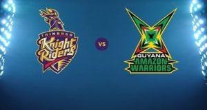 Trinbago Knight Riders vs Guyana Amazon Warriors Live Streaming 2017