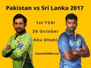 Pakistan vs Sri-Lanka 2017 1st T20 Preview