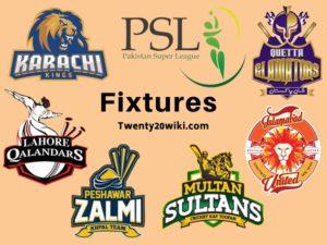 Pakistan Super League 2019 Schedule, Fixtures