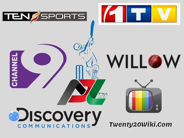 Afghanistan Premier League Broadcasting Rights, TV Channels Listing