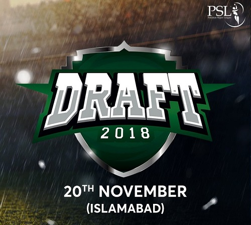 Pakistan Super League players draft for PSL 2019 schedule for Islamabad on 20 November