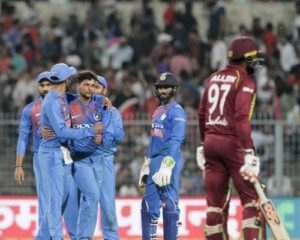 Kuldeep Yadav took 3 wickets in first T20I against Windies at Eden Gardens, Kolkata