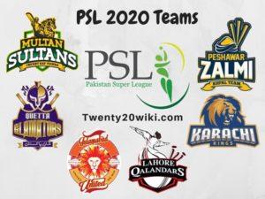 PSL 2020 Teams Squads Photo